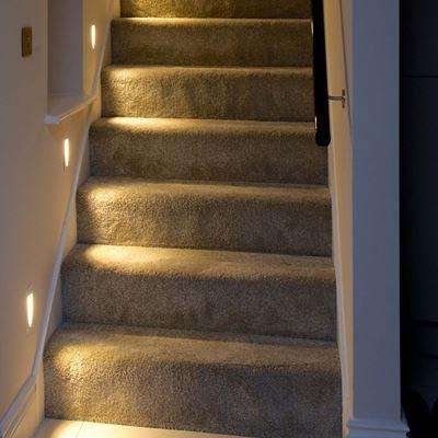Ogive ip20 240v 1w led smh lighting din nettbutikk for for Lampen trapp