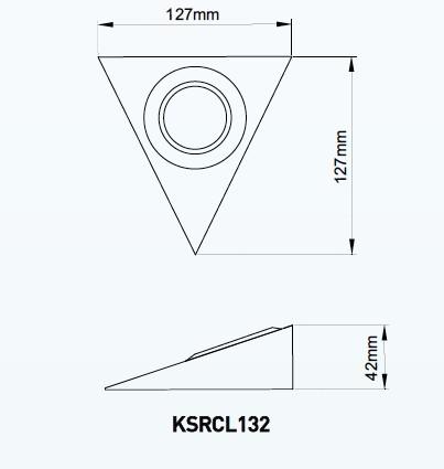 Forside LED Lamper Innend?rs lamper Kj?kken benk Kabinett Trianguler ...